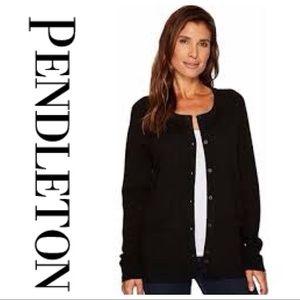 Pendleton vintage style black cardigan sweater, PM